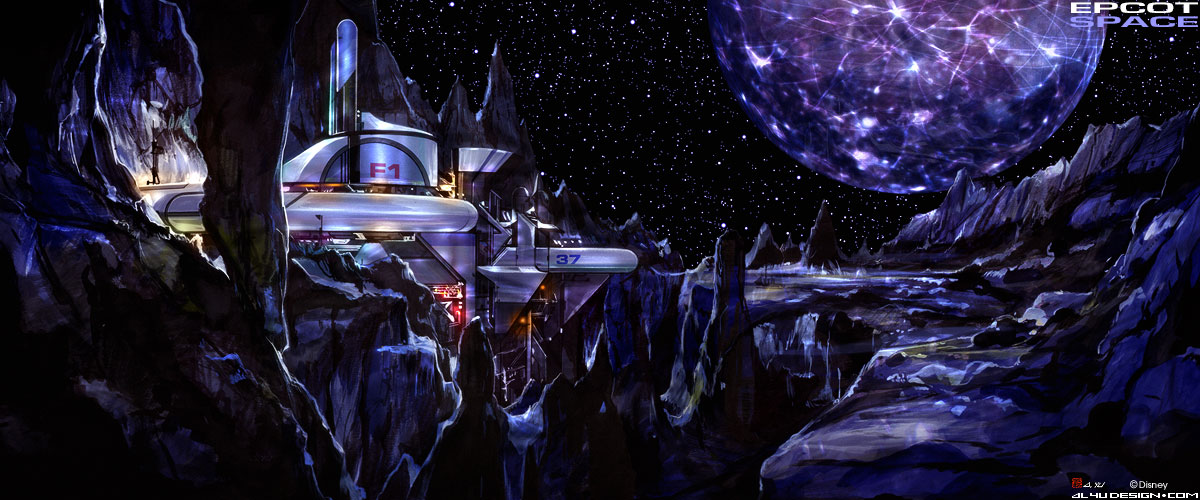 Disney Concept Art - Epcot Space Moonbase