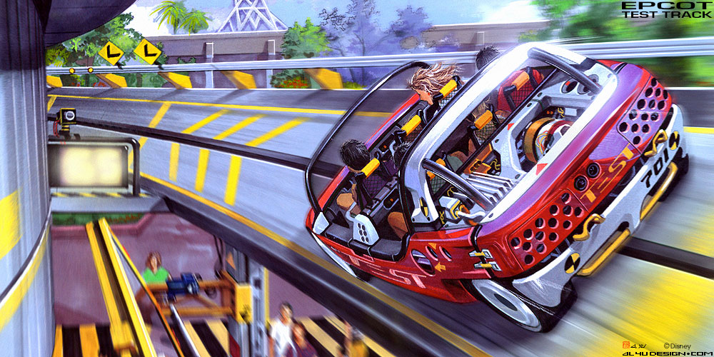 Disney Concept Art - Epcot Test Track High Speed Loop